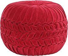 vidaXL Pouf Velours de coton Design de sarrau 40 x