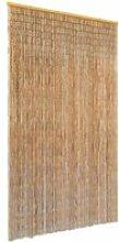 Vidaxl rideau de porte contre insectes bambou 120