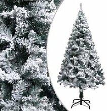 vidaXL Sapin de Noël artificiel à flocons de