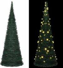 vidaXL Sapin de Noël artificiel avec guirlandes