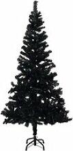 vidaXL Sapin de Noël artificiel avec support Noir