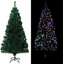 vidaXL Sapin de Noël artificiel avec support Vert