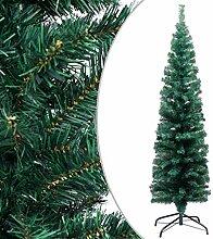 VidaXL Sapin de Noël artificiel fin avec support