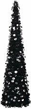 vidaXL Sapin de Noël artificiel pop-up noir 180