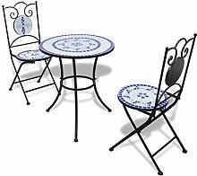 vidaXL Set de Bistro mosaïqué Table 60 cm et 2