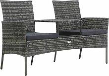Vidaxl - Sofa de jardin 2places et table à thé