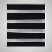 vidaXL Store 80 x 150 cm Noir