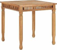 vidaXL Table à dîner de jardin 80x80x80 cm Bois
