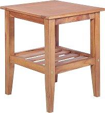 vidaXL Table basse 40x40x50 cm Carrée Teck solide