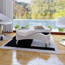 vidaXL Table basse à forme réglable Haute