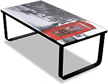 vidaXL Table basse avec impression de cabine