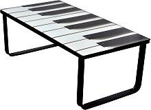 vidaXL Table basse avec impression de piano Dessus