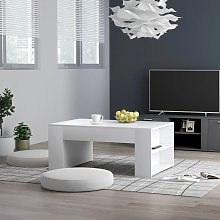 vidaXL Table basse Blanc 100x60x42 cm Aggloméré