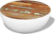 vidaXL Table basse Forme de bol Bois de