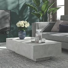 vidaXL Table basse Gris béton 115x60x31 cm