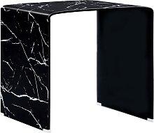 vidaXL Table basse Noir Marbre 50 x 50 x 45 cm