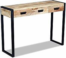 Vidaxl - Table console avec 3 tiroirs Bois de