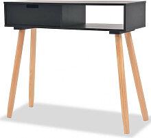 vidaXL Table console Bois de pin massif 80 x 30 x