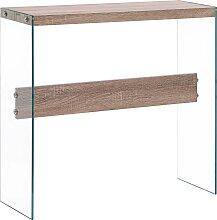 vidaXL Table console Chêne 82x29x75,5 cm MDF
