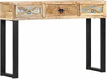 vidaXL Table console en bois de manguier massif