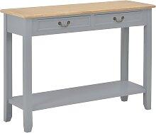 vidaXL Table console Gris 110x35x80 cm Bois
