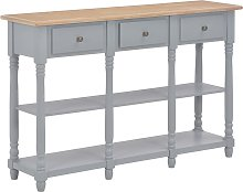 vidaXL Table console Gris 120x30x76 cm MDF