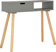 vidaXL Table console Gris 80x30x72 cm Pin massif