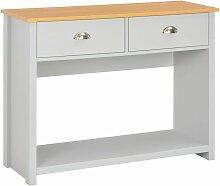 Vidaxl - Table console Gris 97 x 35 x 76 cm
