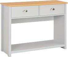 vidaXL Table console Gris 97 x 35 x 76 cm