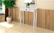 vidaXL Table console MDF Blanc