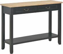 vidaXL Table console Noir 110x35x80 cm Bois