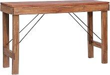 vidaXL Table console pliable 130x40x80 cm Bois