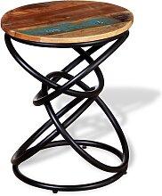 vidaXL Table d'appoint Bois de récupération