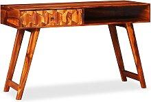 vidaXL Table d'écriture Bois massif de Sesham