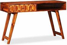 Vidaxl - Table d'écriture Bois massif de