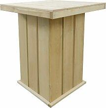 vidaXL Table de bar 75x75x110 cm Pin imprégné