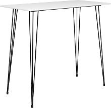vidaXL Table de bar Blanc 120x60x105 cm