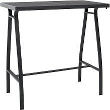 vidaXL Table de bar de jardin Noir 110x60x110 cm
