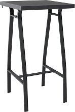 vidaXL Table de bar de jardin Noir 60x60x110 cm