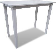 vidaXL Table de bar en bois Blanc