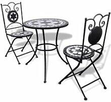Vidaxl table de bistro 60 cm et 2 chaises