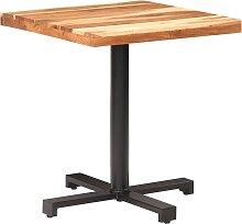 vidaXL Table de bistro Carrée 70x70x75 cm Bois