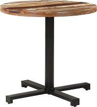 vidaXL Table de bistro Carrée Ø80x75 cm Bois de