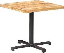vidaXL Table de bistro Carrée 80x80x75 cm Bois de
