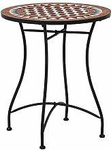 vidaXL Table de Bistro Mosaïque Table de Jardin