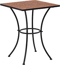 vidaXL Table de bistro mosaïque Terre cuite 60 cm