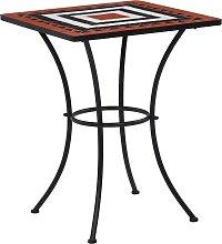 vidaXL Table de bistro mosaïque Terre cuite et
