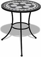 Vidaxl - Table de bistro Noir et blanc 60 cm