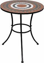 Vidaxl - Table de bistro Terre cuite et blanc 60