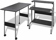 Vidaxl - Table de Bureau Réglable pour Ordinateur